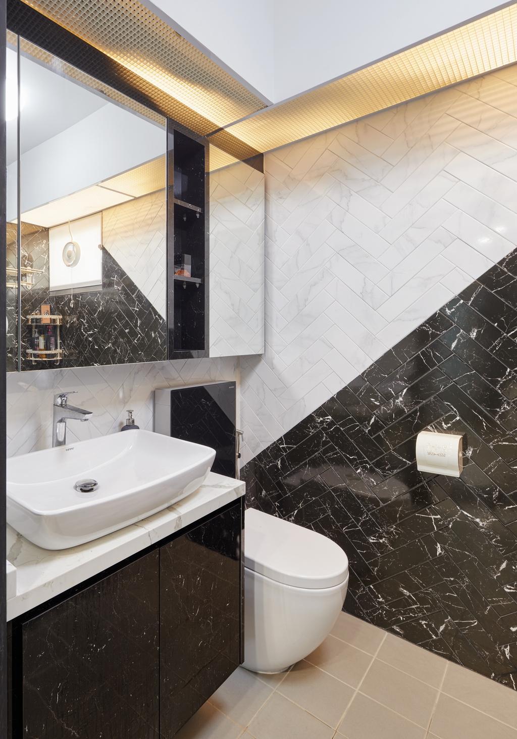 Contemporary, HDB, Bathroom, Yung Kuang Court (Block 166B), Interior Designer, Absolook Interior Design