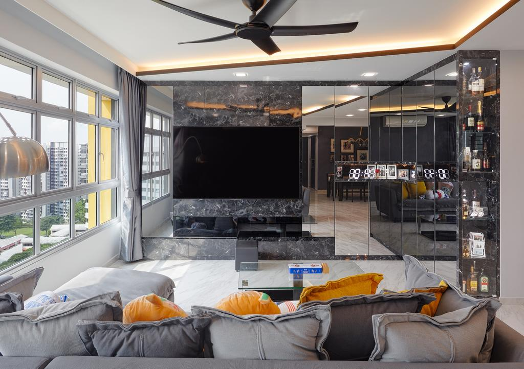 Contemporary, HDB, Living Room, Yung Kuang Court (Block 166B), Interior Designer, Absolook Interior Design