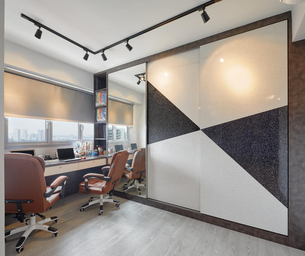 Contemporary, HDB, Study, Yung Kuang Court (Block 166B), Interior Designer, Absolook Interior Design