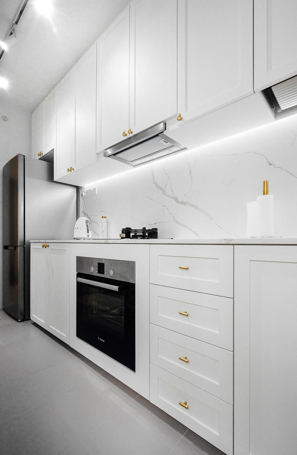 Contemporary, HDB, Kitchen, Bukit Batok West Avenue 6, Interior Designer, Lemonfridge Studio