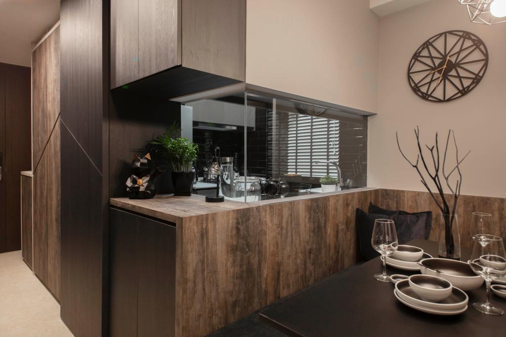 Contemporary, Condo, Kitchen, Thomson Impressions, Interior Designer, Starry Homestead