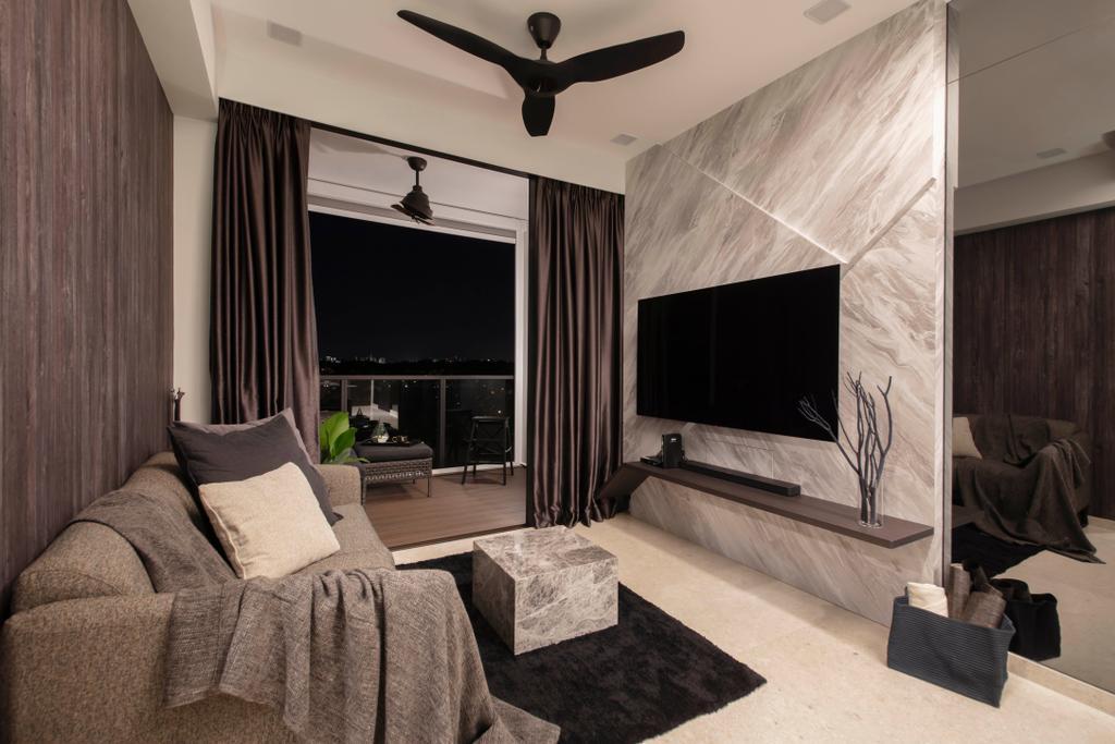 Contemporary, Condo, Living Room, Thomson Impressions, Interior Designer, Starry Homestead