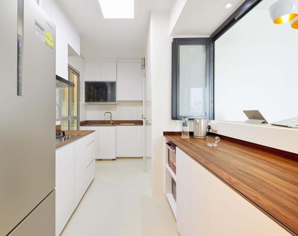 Contemporary, HDB, Kitchen, Clementi Ave 4, Interior Designer, Absolook Interior Design