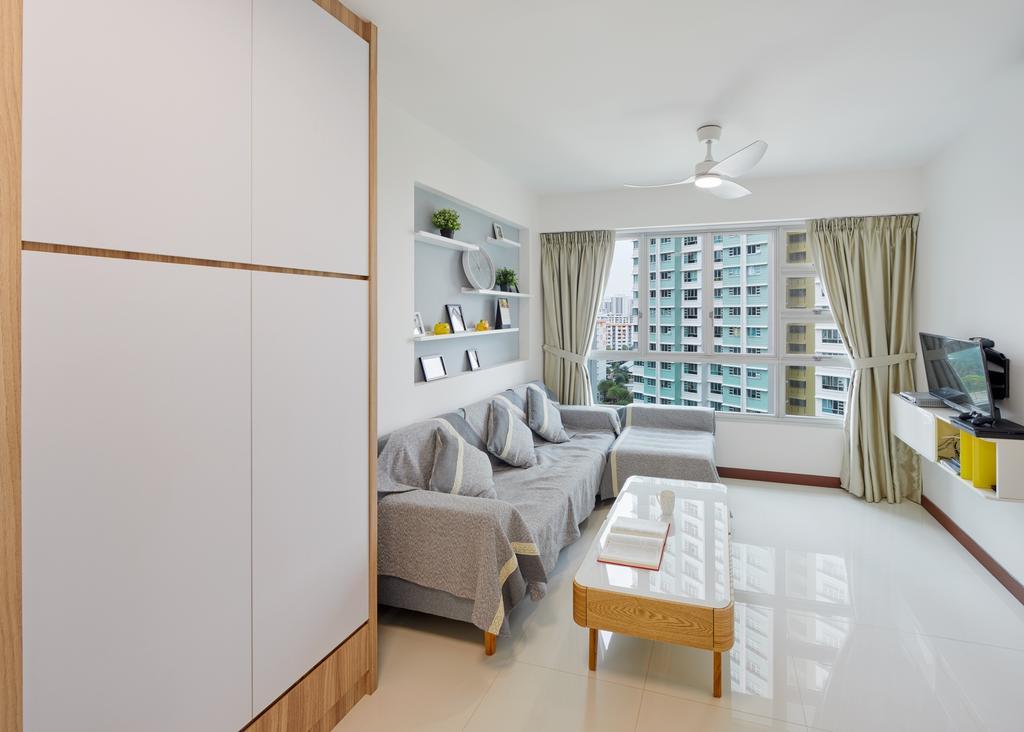 Contemporary, HDB, Living Room, Clementi Ave 4, Interior Designer, Absolook Interior Design