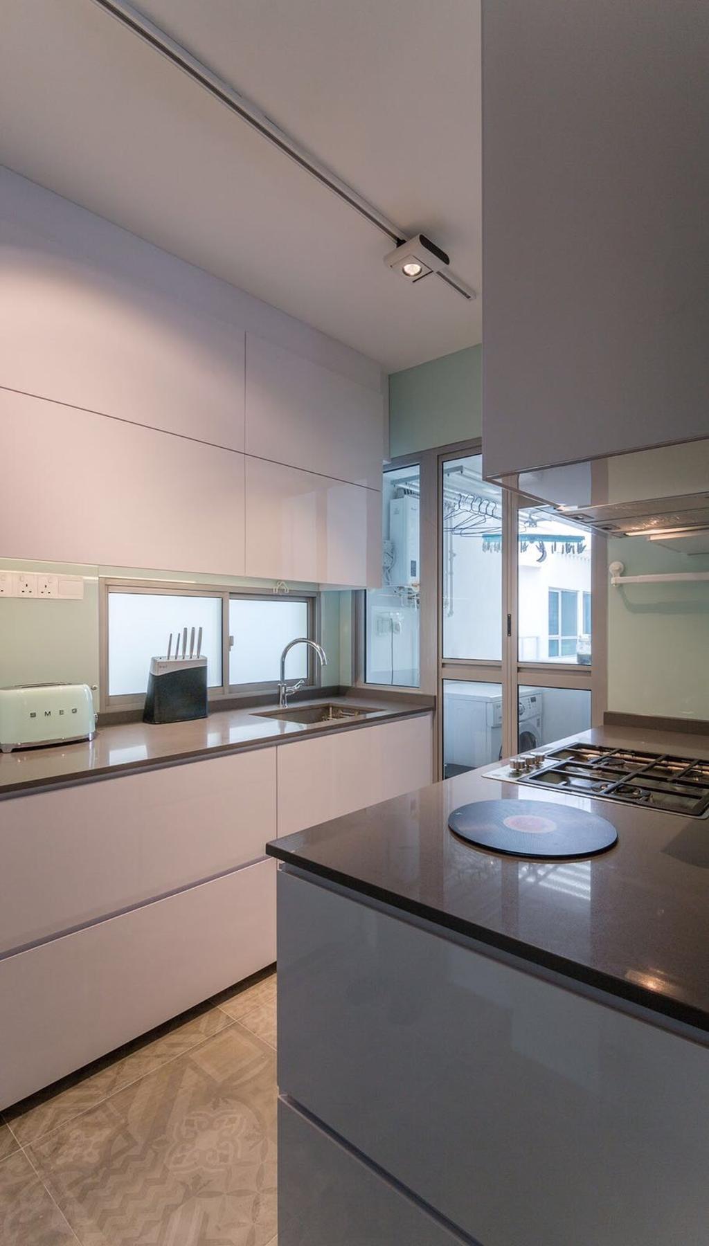 Scandinavian, HDB, Kitchen, Simei Lane, Interior Designer, Swiss Interior Design