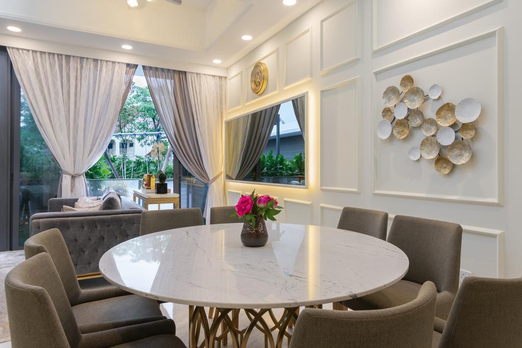 Contemporary, Landed, Dining Room, Sunrise Terrace, Interior Designer, Imago Dei 3