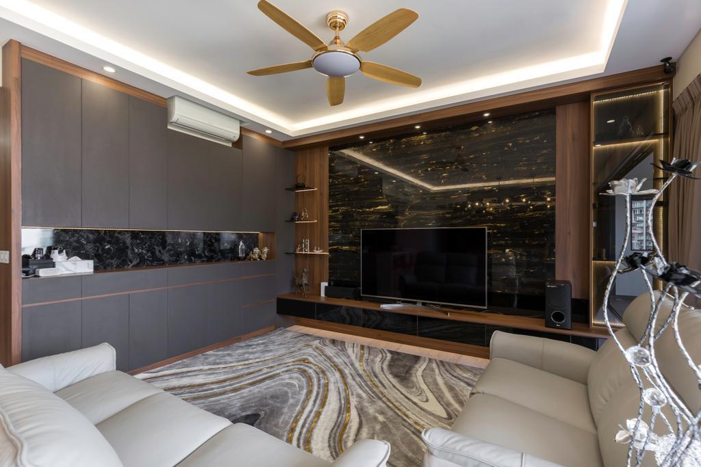 Contemporary, Condo, Living Room, The Poiz Residences, Interior Designer, Craftwerkz Interior, Transitional