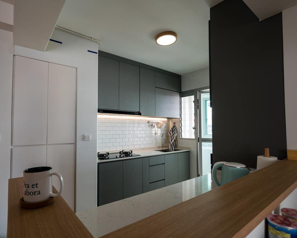 Scandinavian, HDB, Kitchen, Bedok North Street 4, Interior Designer, ELPIS Interior Design