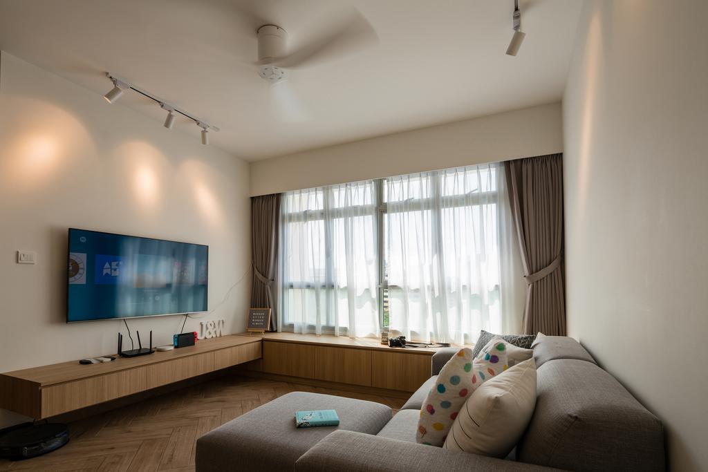 Scandinavian, HDB, Living Room, Bedok North Street 4, Interior Designer, ELPIS Interior Design