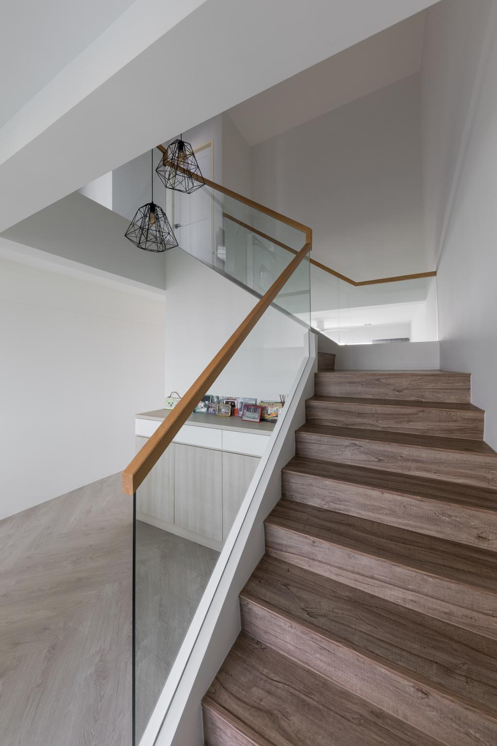 Scandinavian, HDB, Living Room, Jurong West Street 41, Interior Designer, Zenith Arc, Stairs
