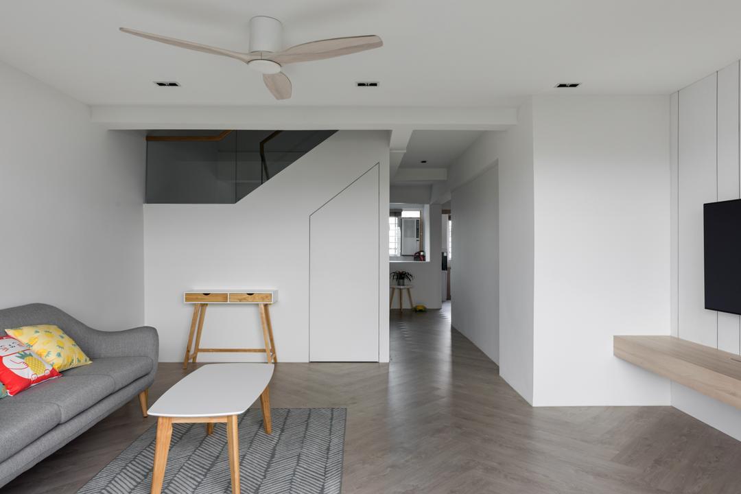 Jurong West Street 41, Zenith Arc, Scandinavian, Living Room, HDB, Stairs