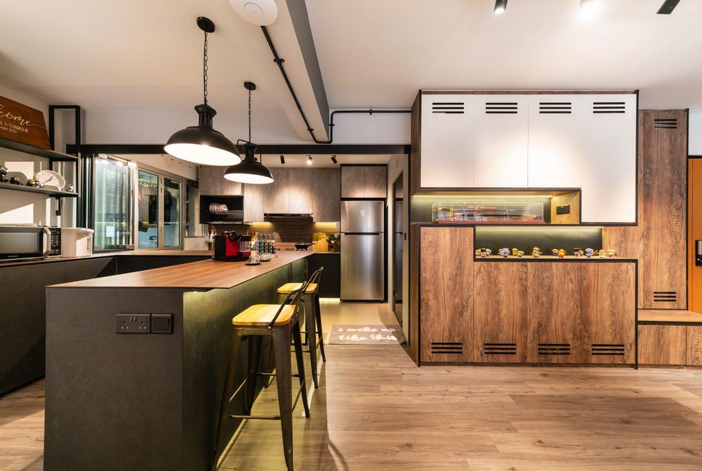 Modern, HDB, Bukit Batok West, Interior Designer, Space Atelier, Industrial