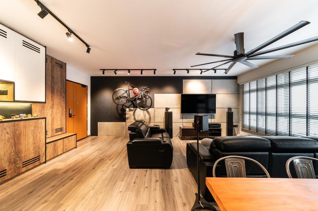 Modern, HDB, Living Room, Bukit Batok West, Interior Designer, Space Atelier, Industrial