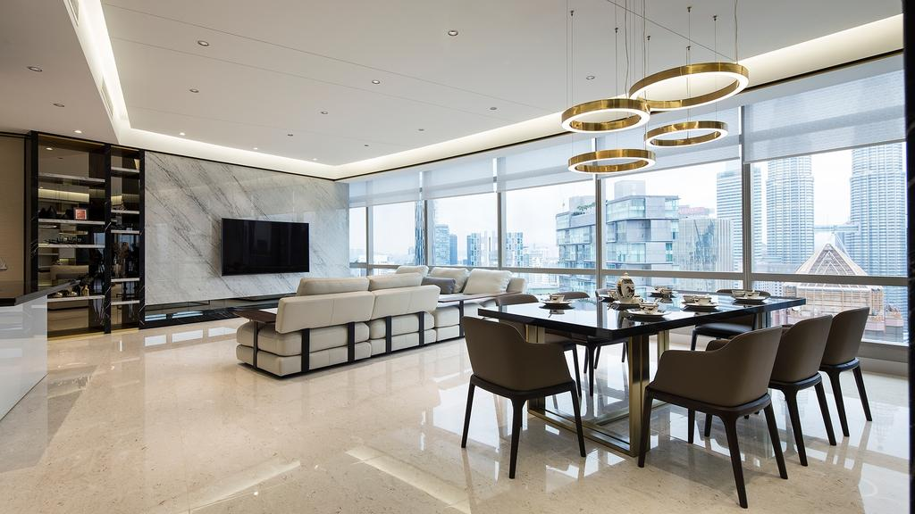 Modern, Condo, Living Room, Banyan Tree Signatures, Kuala Lumpur, Interior Designer, Box Design Studio Sdn Bhd