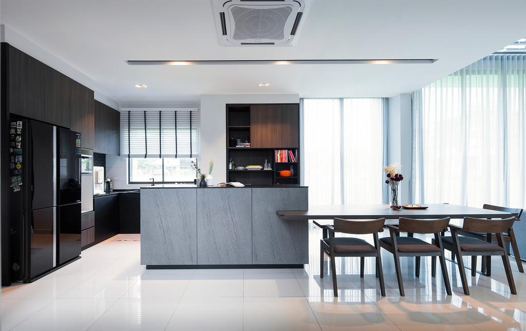 Modern, Landed, Dining Room, Ficus Peak, Denai Alam, Interior Designer, Box Design Studio Sdn Bhd, Minimalistic