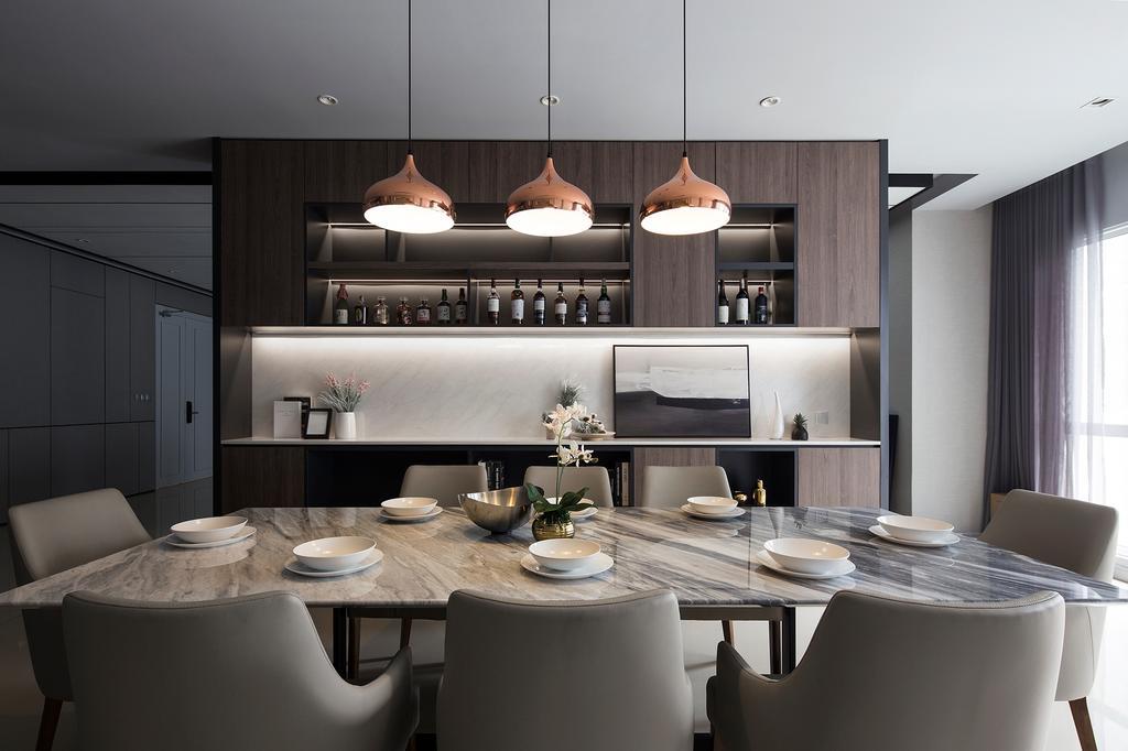 Contemporary, Condo, Dining Room, Pavilion Hilltop, Mont Kiara, Interior Designer, Box Design Studio Sdn Bhd