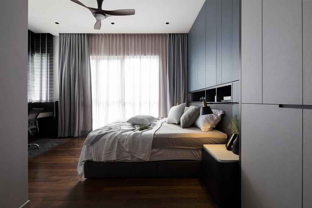 Contemporary, Condo, Bedroom, Pavilion Hilltop, Mont Kiara, Interior Designer, Box Design Studio Sdn Bhd