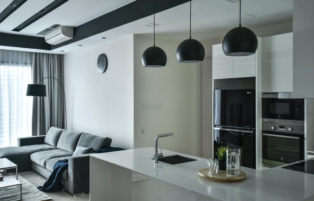 Modern, Condo, Kitchen, The Greens, TTDI, Interior Designer, IQI Concept Interior Design & Renovation, Open Kitchen, Open Concept