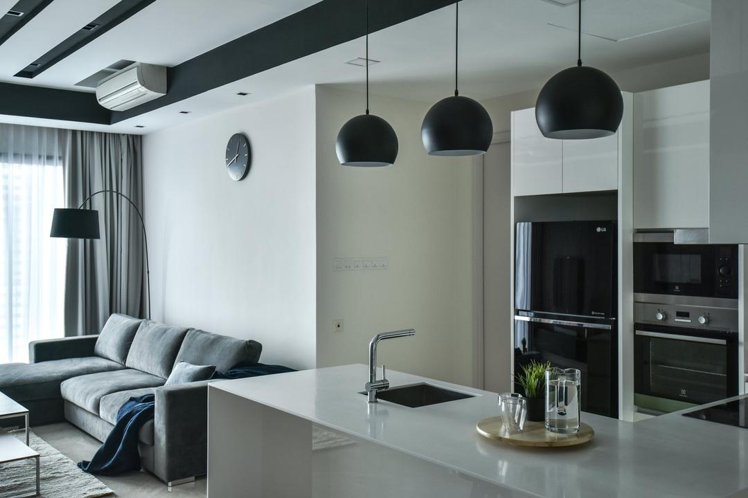 The Greens, TTDI, IQI Concept Interior Design & Renovation, Modern, Kitchen, Condo, Open Kitchen, Open Concept