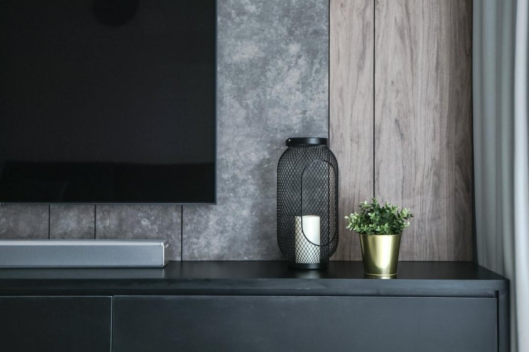 The Greens, TTDI, IQI Concept Interior Design & Renovation, Modern, Living Room, Condo, Feature Wall