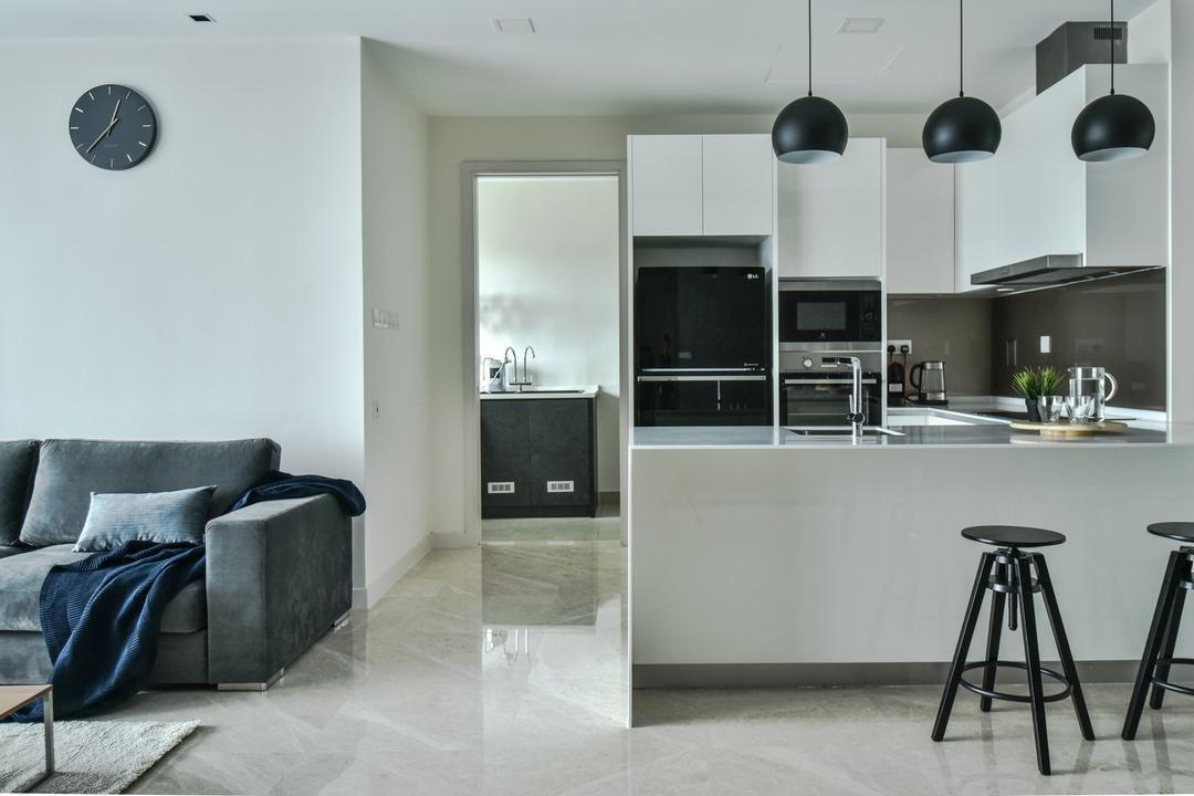 The Greens, TTDI, IQI Concept Interior Design & Renovation, Modern, Kitchen, Condo, Hallway, Corridor