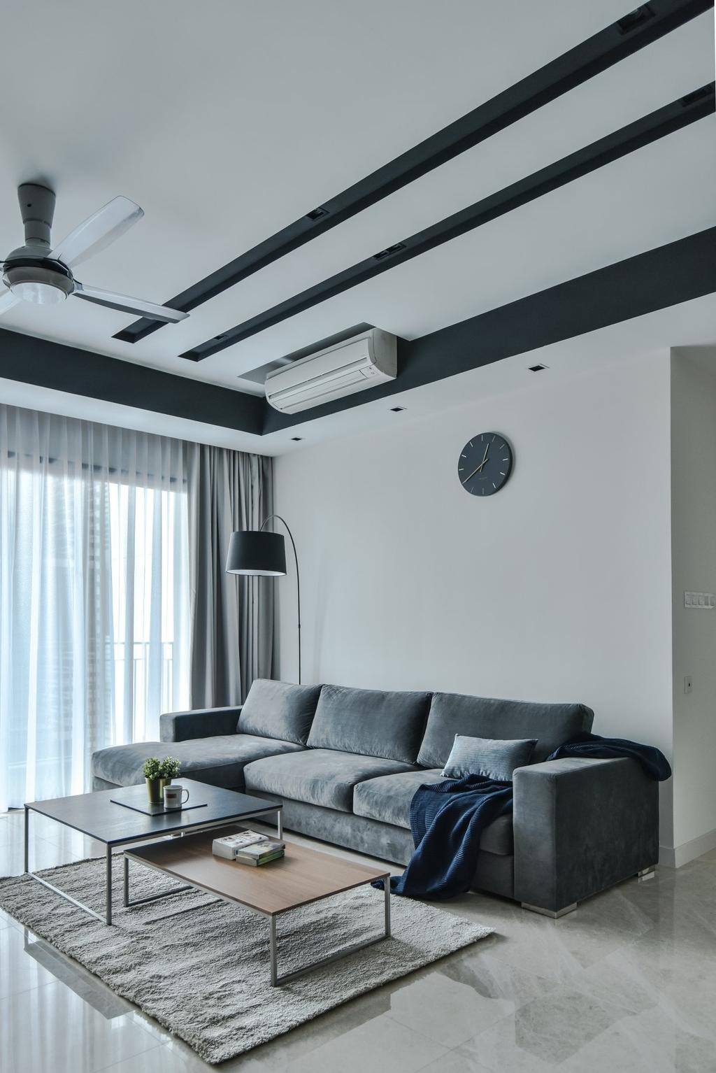 Modern, Condo, Living Room, The Greens, TTDI, Interior Designer, IQI Concept Interior Design & Renovation