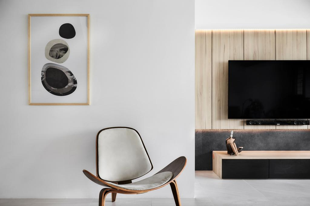Minimalistic, HDB, Living Room, Tampines Street 12 (Block 149), Interior Designer, Icon Interior Design, Modern