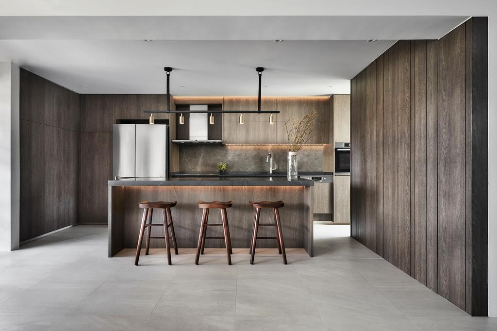 Minimalistic, HDB, Kitchen, Tampines Street 12 (Block 149), Interior Designer, Icon Interior Design, Modern, Kitchen Island, Open Kitchen, Open Concept