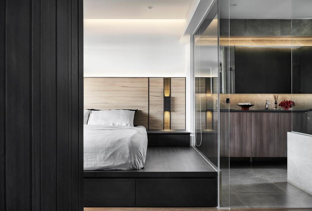Minimalistic, HDB, Bedroom, Tampines Street 12 (Block 149), Interior Designer, Icon Interior Design, Modern, Open Bathroom, Open Concept, Ensuite