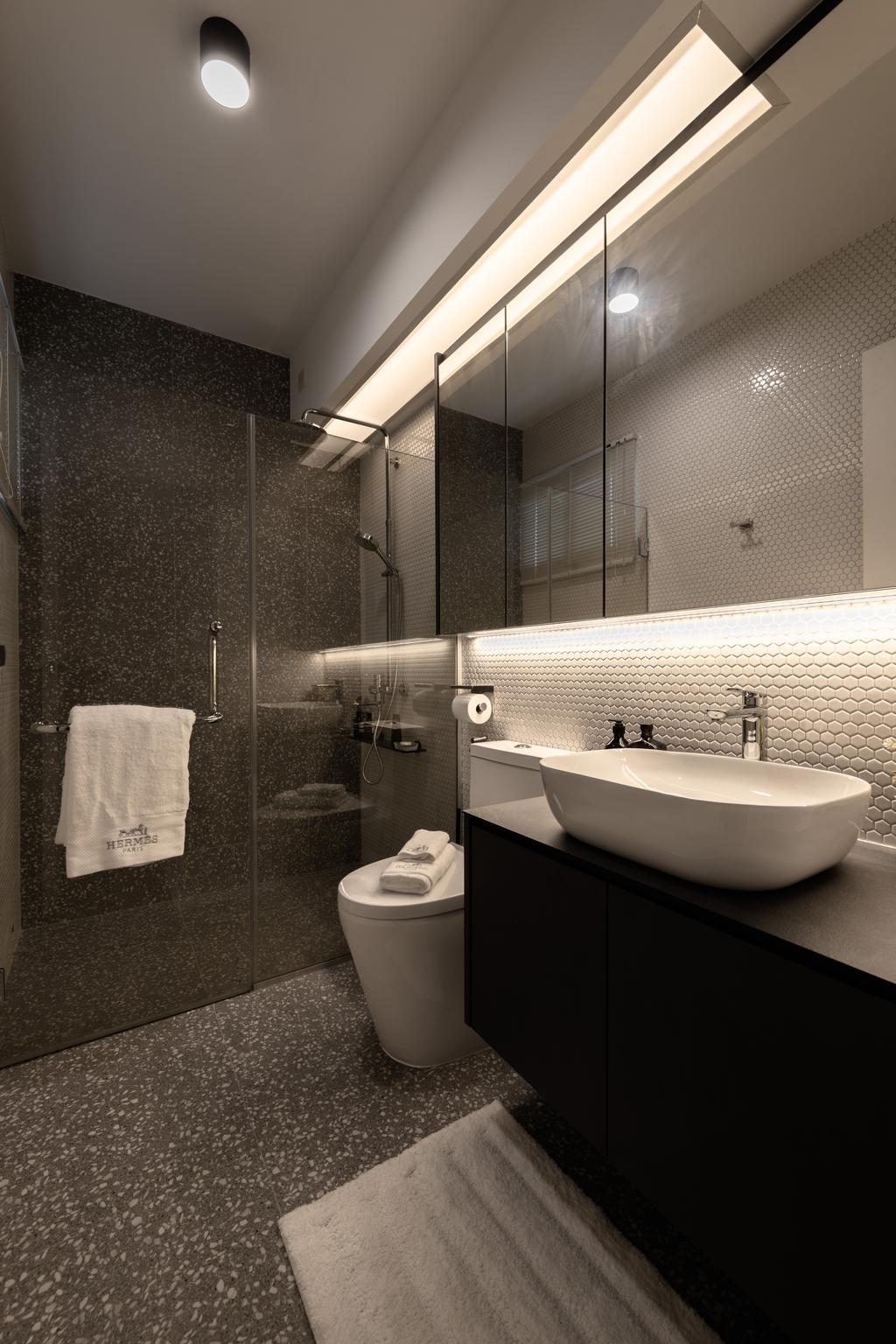 Contemporary, HDB, Bathroom, Dover Road, Interior Designer, Mr Shopper Studio
