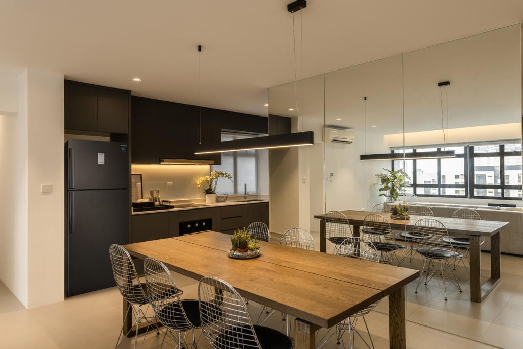 Contemporary, HDB, Dining Room, Dover Road, Interior Designer, Mr Shopper Studio