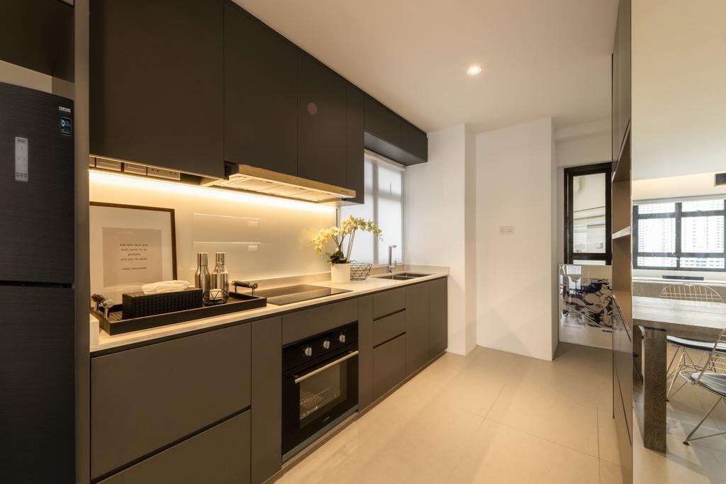 Contemporary, HDB, Kitchen, Dover Road, Interior Designer, Mr Shopper Studio