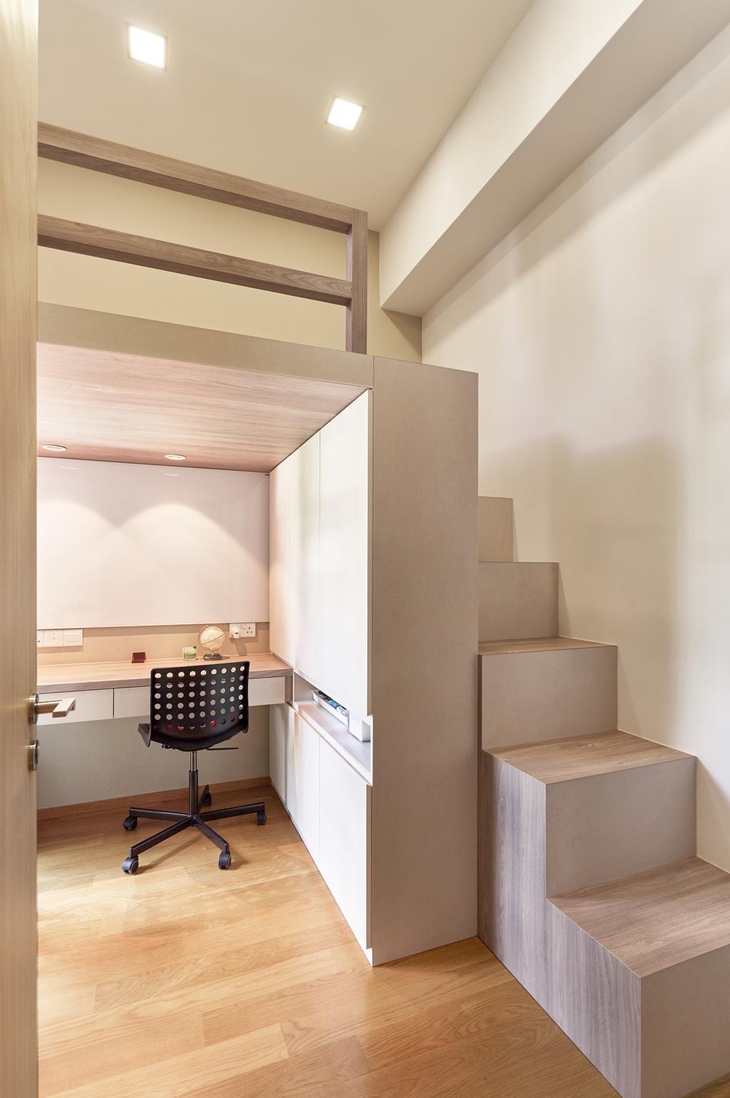 Contemporary, Condo, Study, Bliss @ Kovan, Interior Designer, GB Interior Design
