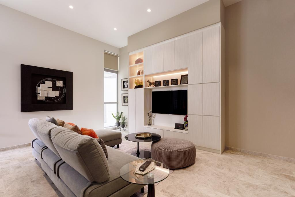 Contemporary, Condo, Living Room, Bliss @ Kovan, Interior Designer, GB Interior Design