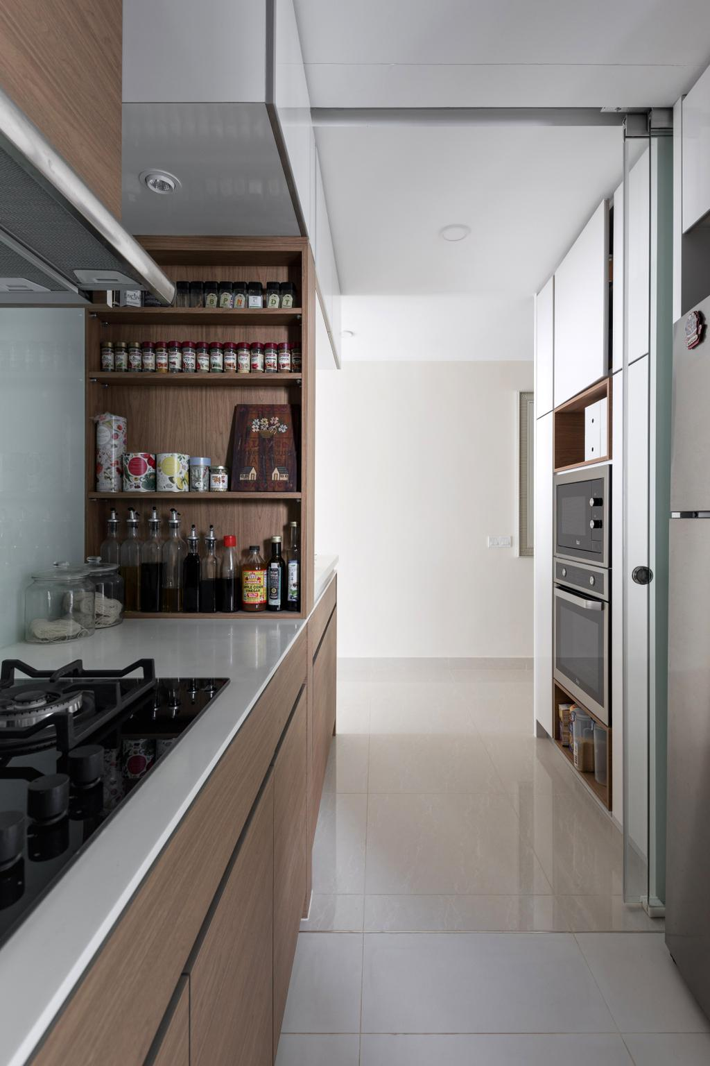 Scandinavian, Condo, Kitchen, Coco Palms, Interior Designer, ChanInteriors, Minimalistic