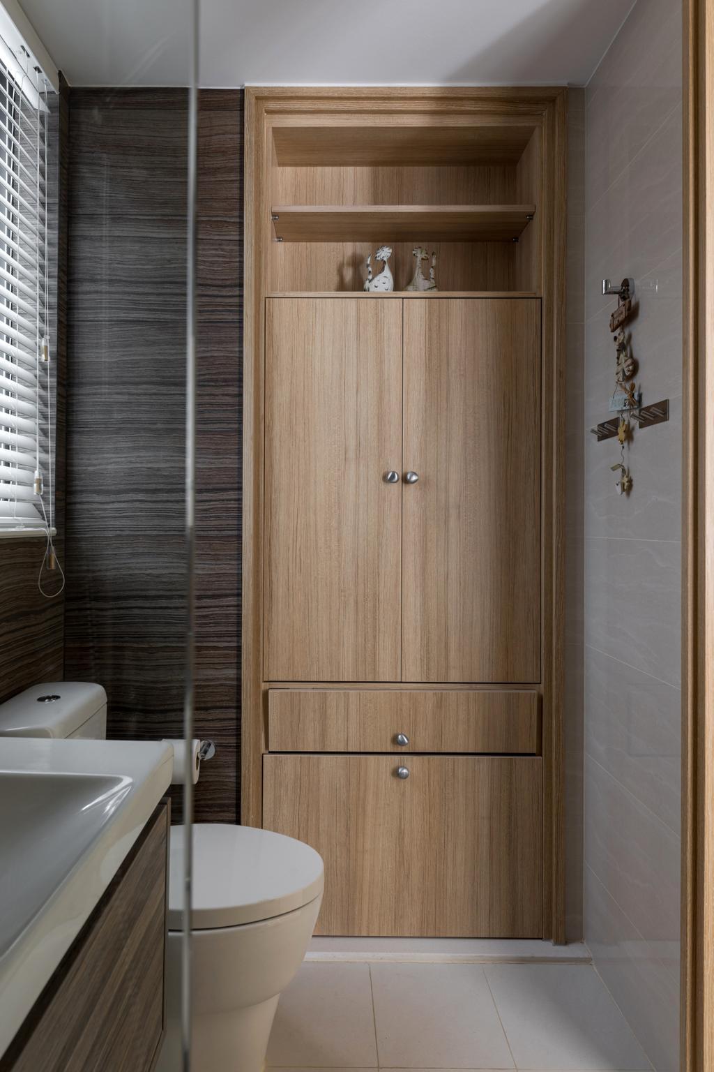 Scandinavian, Condo, Bathroom, Coco Palms, Interior Designer, ChanInteriors, Minimalistic