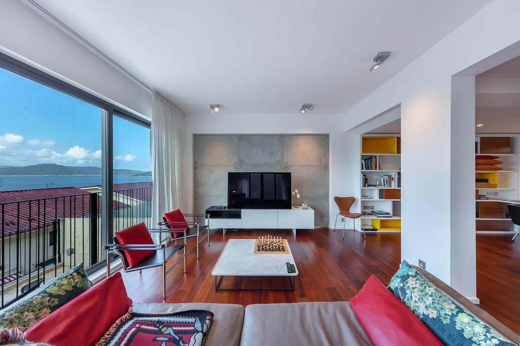 獨立屋, 客廳, 西貢海濱別墅, 室內設計師, am PLUS Designs Limited