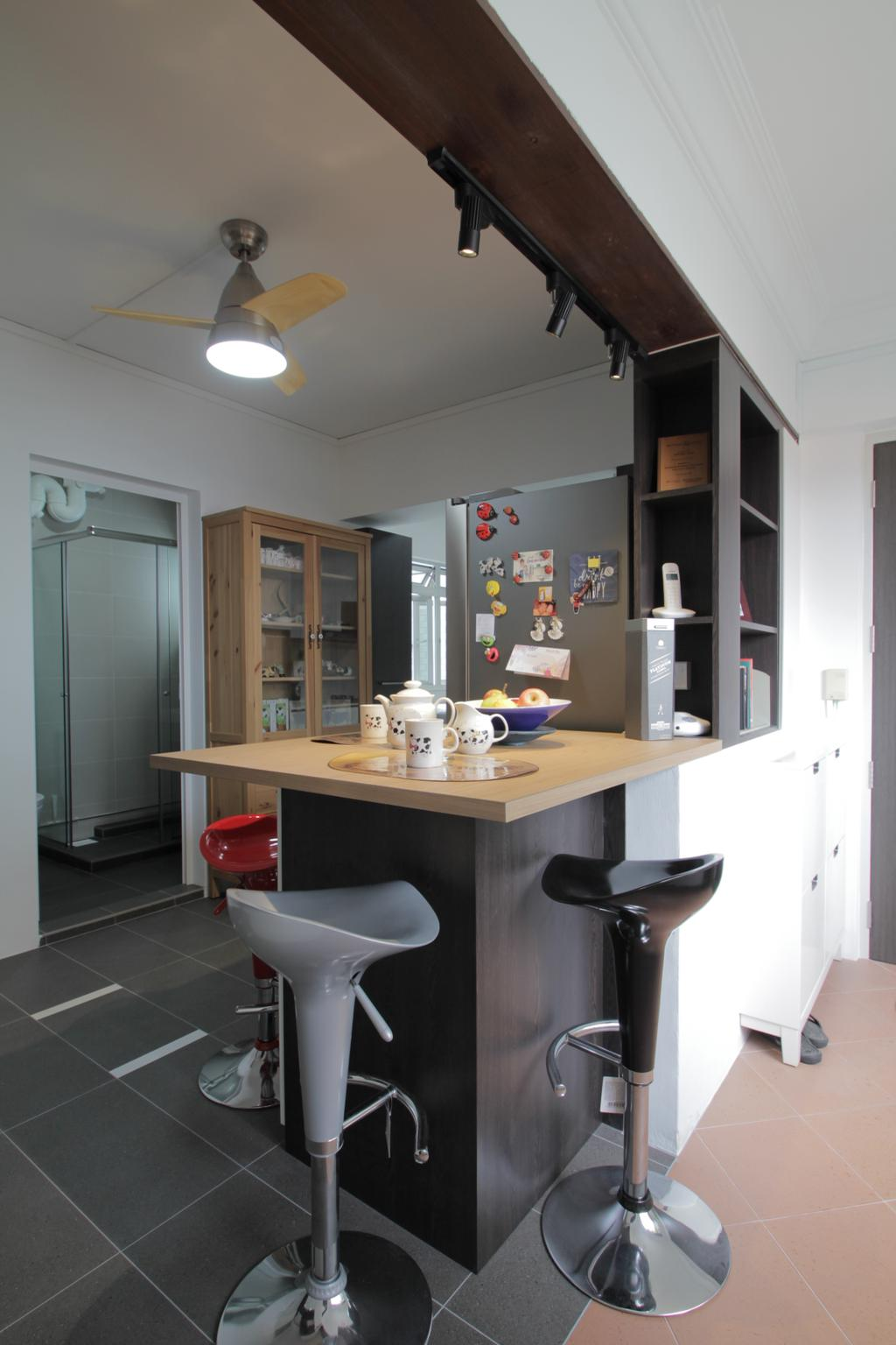 Contemporary, HDB, Kitchen, Pasir Ris Drive 6, Interior Designer, VVID Elements