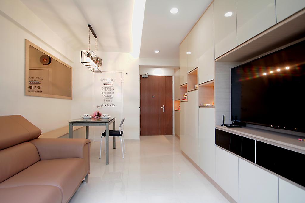 Contemporary, HDB, Living Room, Tampines Street 61, Interior Designer, VVID Elements