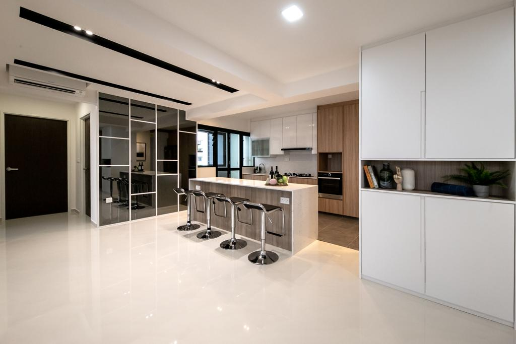 Contemporary, HDB, Kitchen, Tampines GreenRidges, Interior Designer, Space Atelier, Scandinavian