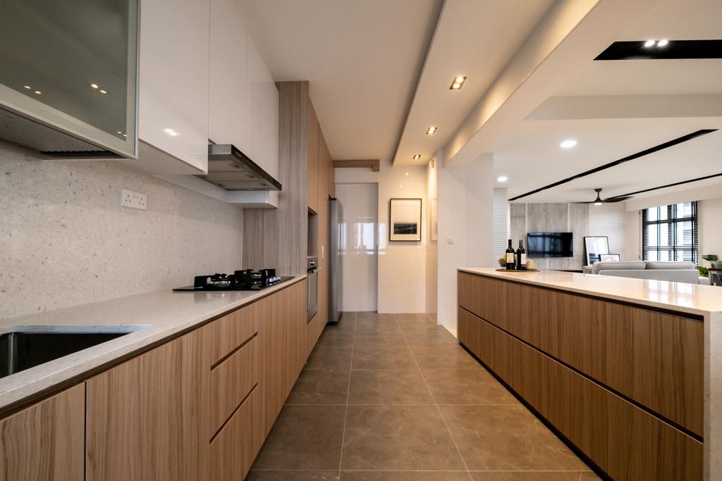 Contemporary, HDB, Kitchen, Tampines GreenRidges, Interior Designer, Space Atelier, Scandinavian