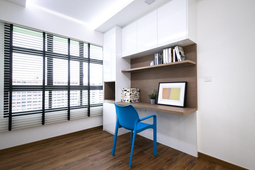 Contemporary, HDB, Study, Tampines GreenRidges, Interior Designer, Space Atelier, Scandinavian