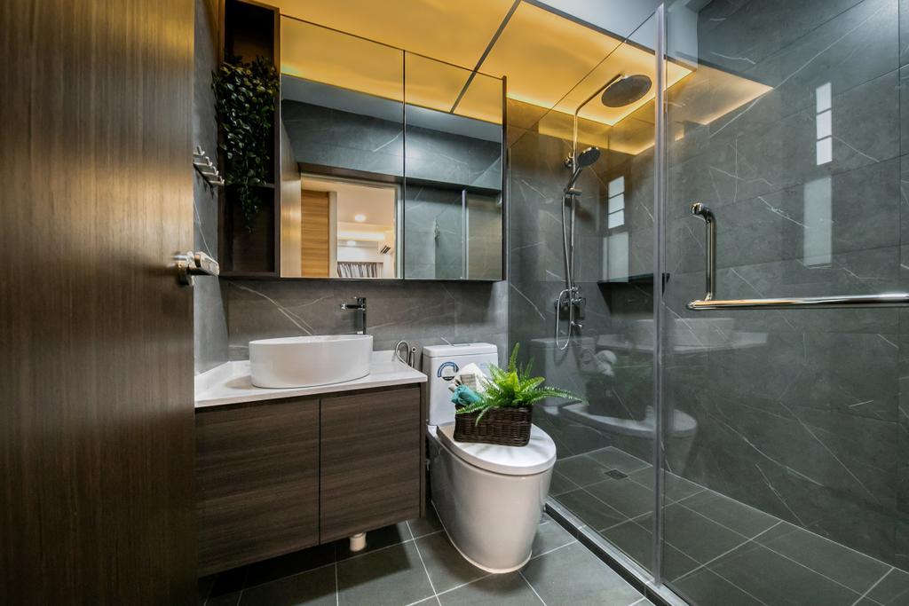 Contemporary, HDB, Bathroom, Tampines GreenRidges, Interior Designer, Space Atelier, Scandinavian