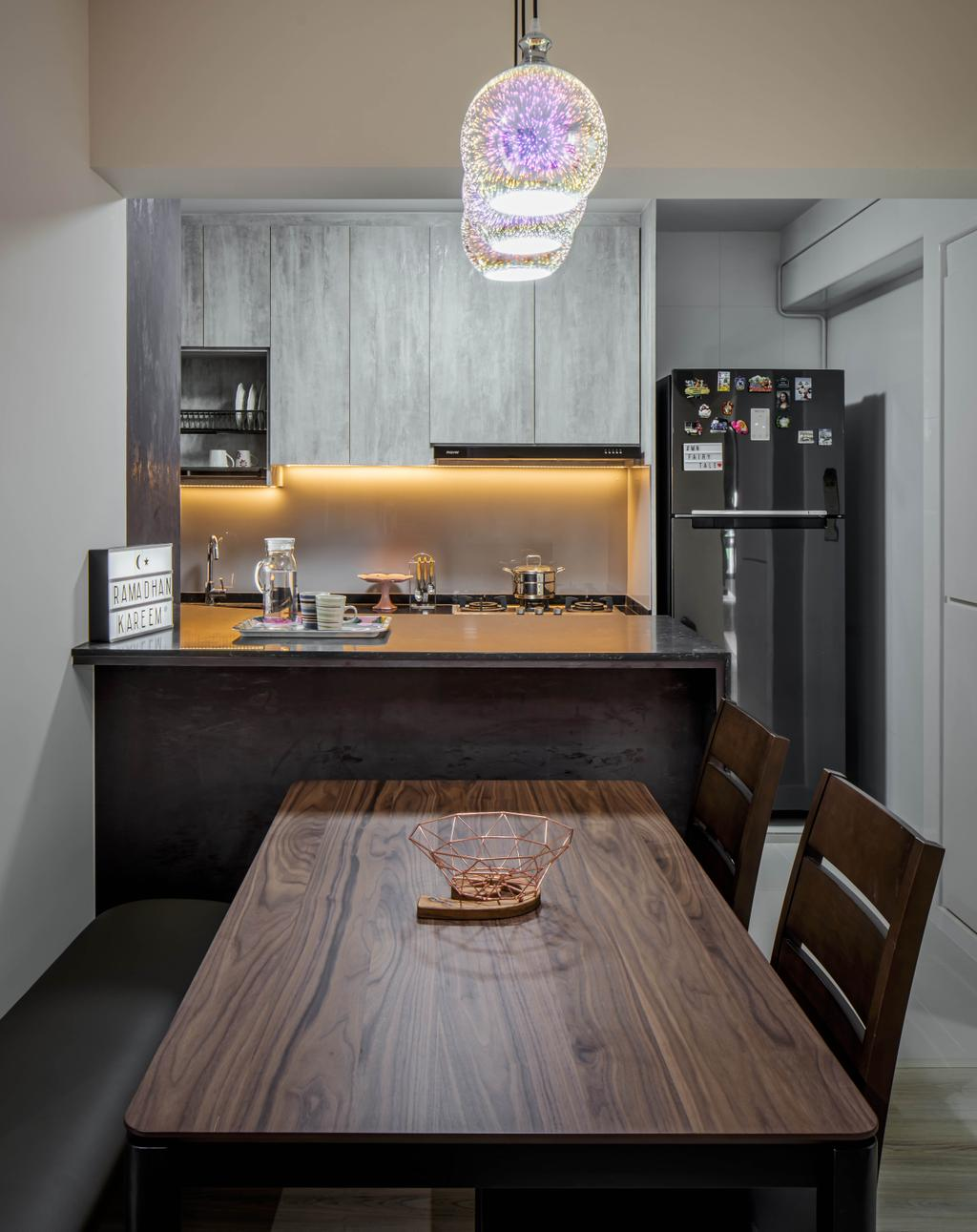 Contemporary, HDB, Dining Room, Tampines Avenue 9, Interior Designer, Weiken.com