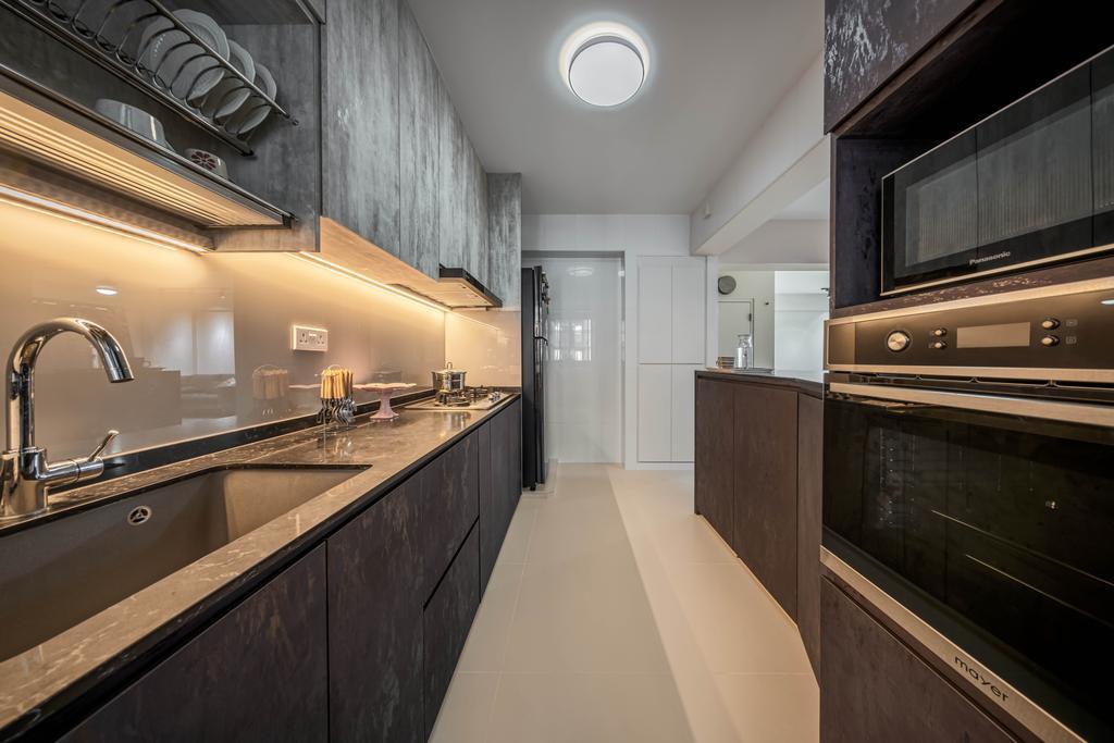 Contemporary, HDB, Kitchen, Tampines Avenue 9, Interior Designer, Weiken.com