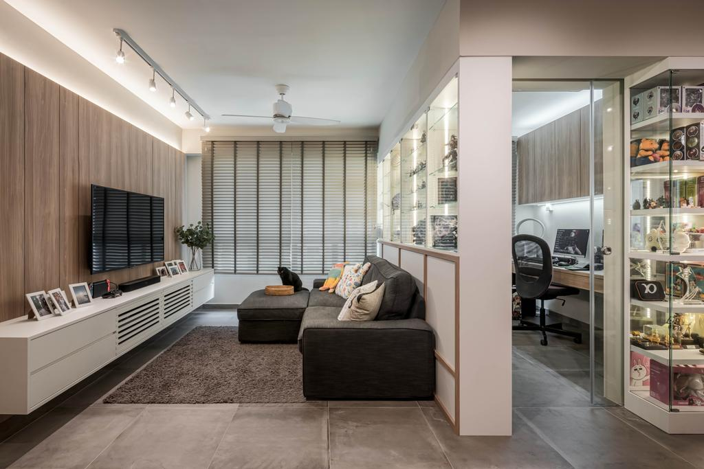 Contemporary, HDB, Living Room, Sumang Lane, Interior Designer, Weiken.com