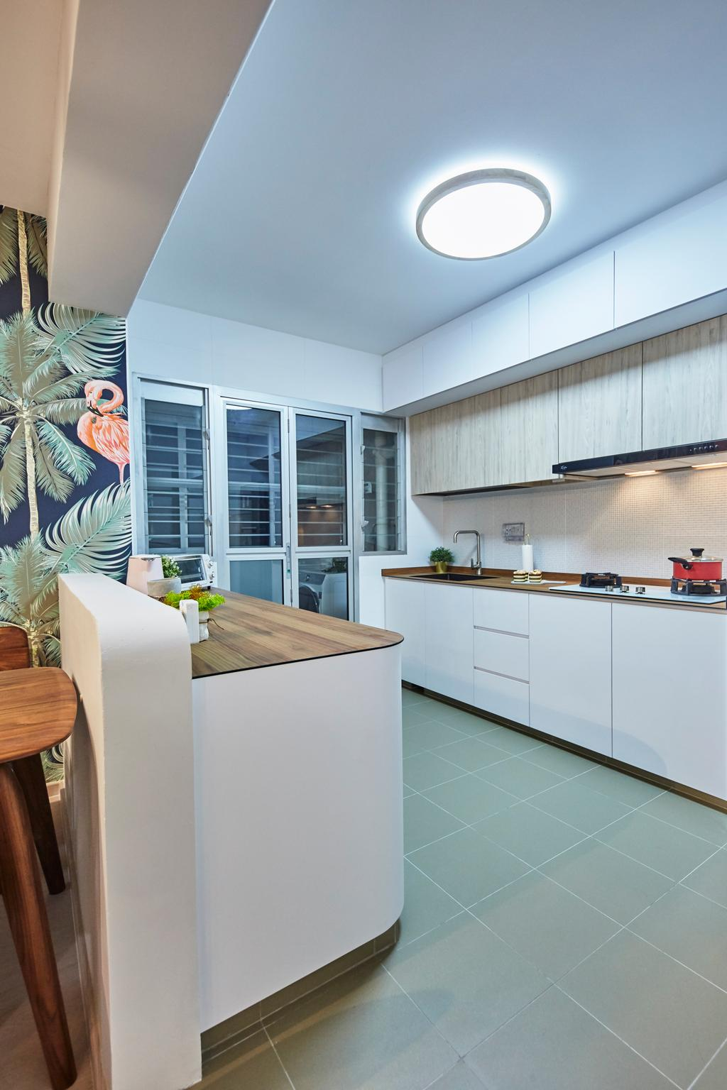 Eclectic, HDB, Kitchen, Sun Natura, Interior Designer, The Interior Lab