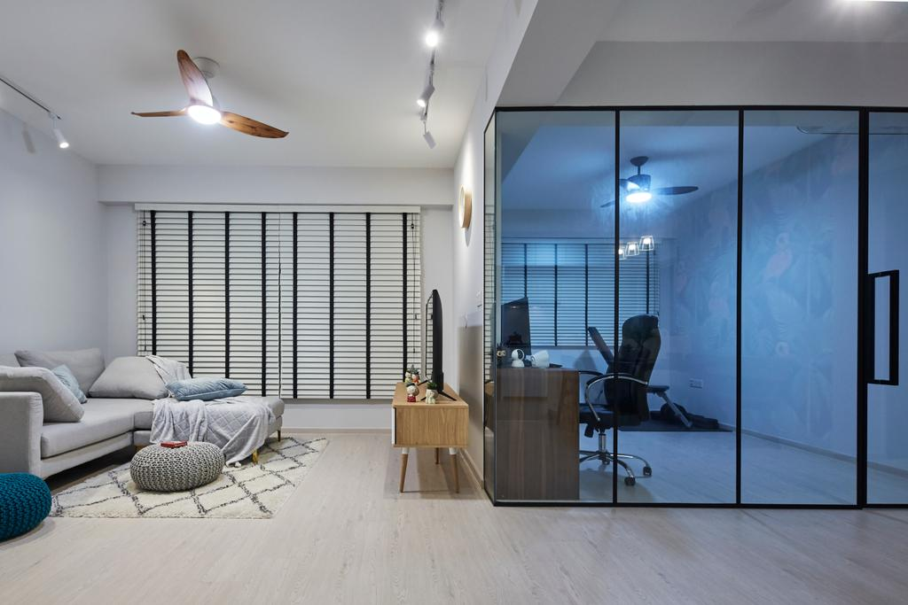 Eclectic, HDB, Living Room, Sun Natura, Interior Designer, The Interior Lab