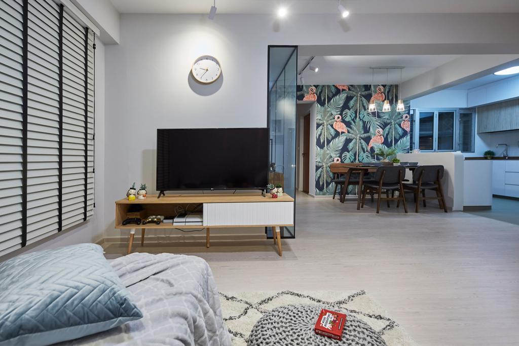 Eclectic, HDB, Living Room, Sun Natura, Interior Designer, The Interior Lab