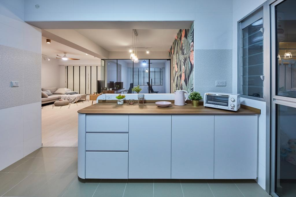 Eclectic, HDB, Kitchen, Sun Natura, Interior Designer, The Interior Lab
